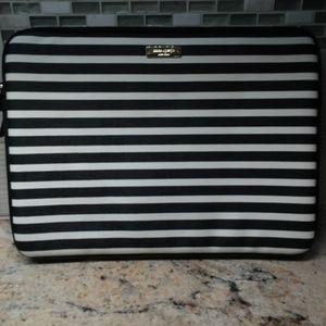 Kate Spade Black/white stripe computer sleeve